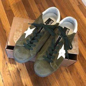 Brand new in the box golden goose superstar sneaks
